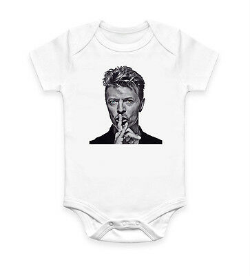 Funny David Bowie Shh Baby Grow Bodysuit Baby Suit Vest Ideal Gift Unisex 1538