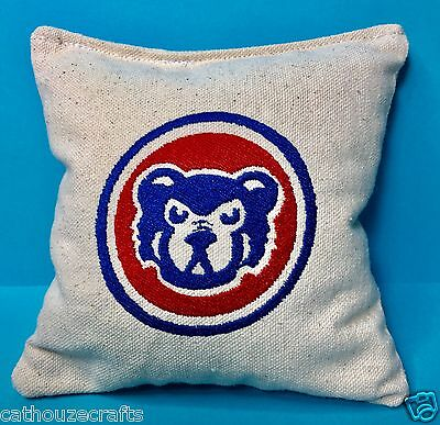Custom Embroidered Aca Regulation Corn Hole Bags Set Of 4 Chicago Cubs
