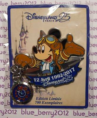 Disney land Paris Pin Mickey 12 April Avril 2017 25 th anniversary anniversaire