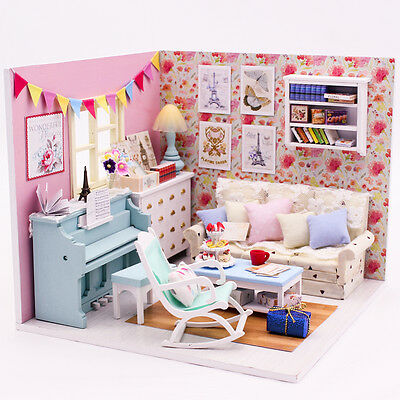 My Little Angels Piano Room DIY Handcraft Miniature Project Dolls House