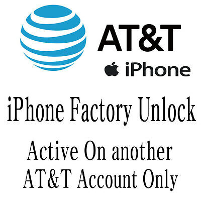 AT&T ATT iPhone Unlock Service For Active on another account