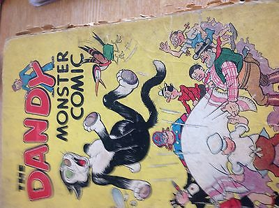Hb book the dandy monster comic annual 1947 very worn but complete