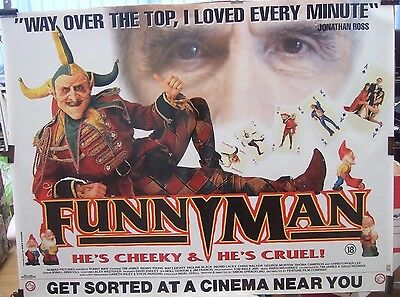 Christopher Lee FUNNY MAN(1994)Original rolled UK quad movie poster UK POST FREE