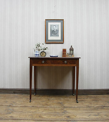 Antique Console Writing Table, Heals Mahogany Hall Table