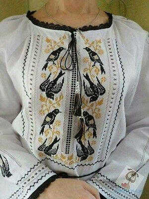 Ukrainian embroidery, embroidered blouse, BIRD, any color, coton,XS-4XL, Ukraine