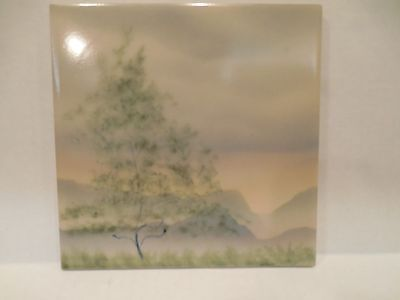 H & R Johnson Tile Made in England Scenery Beautiful Vintage Scenic Art