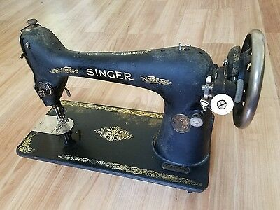 Vintage Singer Sewing Machine Cast Iron -Circa Early 1900's Decent Shape