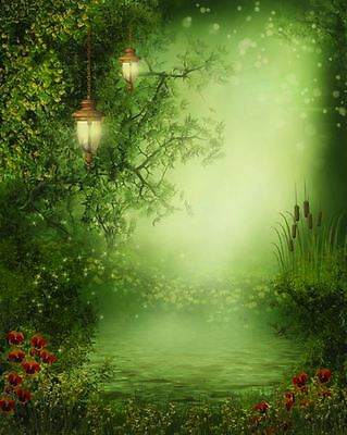 FAIRY FOREST WOOD BACKDROP WALLPAPER BACKGROUND VINYL PHOTO PROP 5X7FT 150x220CM