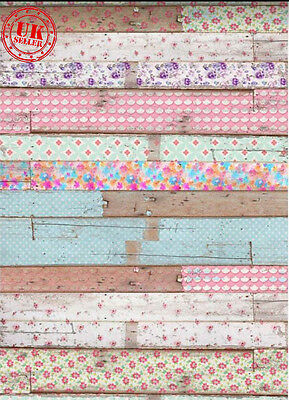 SHABBY CHIC PAINT OLD WOOD BACKDROP BACKGROUND VINYL PHOTO PROP 5X7FT 150x220CM