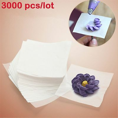 3000 Pcs/lot Cake Decorating Piping Nail Flower Transfer Icing Cream Wax Paper