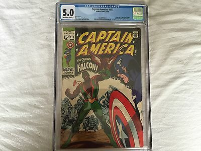 Captain America #117--CGC 5.0--First appearance and Origin of the Falcon!