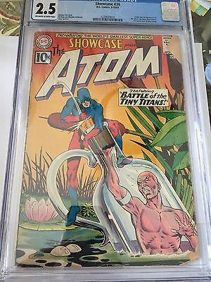 Showcase #34--CGC 2.5-First appearance of the Silver Age Atom!