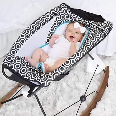 NEW Jonathan Adler Fisher Price Rock N Play Replacement Cover Seat Pad Blk/White