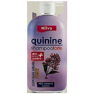 MILVA  Quinine Forte Shampoo with 40 % More Quinine For all hair types 200 ml