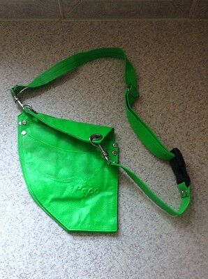 Roo Beauty Hairdressing Ltd Edition Leather Fluorescent Green Holster With Belt