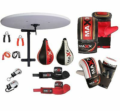 Maxx Adjustable Speedball Platform Frame Set Swivel MMA Speed Ball Boxing Gloves