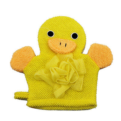 Baby Bathroom Bath Fun Toy Hand Puppet Shower Wash Mitt Yellow