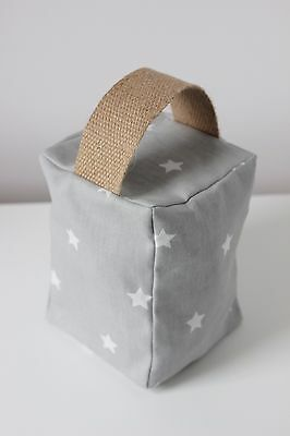 Fabric Door stop Shabby Chic Grey Star Unfilled