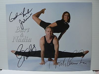 Nadia Comaneci And Bart Conner Gymnasts  Authentic Signed Autograph 8 x 10 Photo