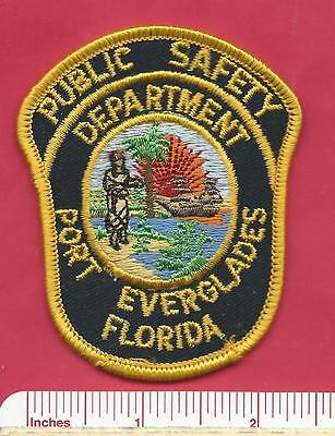 Port Everglades Florida State FL Fla Defunct Police Hat Patch - Broward County
