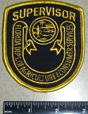 Old FL Florida Fla State Agriculture & Consumer Services Police Supervisor Patch