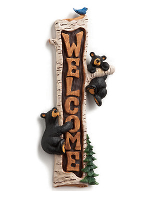 Big Sky Carvers Vertical Welcome Sign Jeff Fleming 6Inch W X 13.5Inche  73675