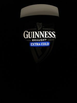 Guinness Extra Cold Pub Bar Font - Working Light / Adapter - Excellent Condition