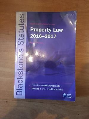 Blackstone's Statutes on Property Law 2016-2017 by Oxford University Press...