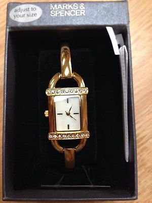 Marks&Spencer M&S gold colour watch brand new with tags perfect gift