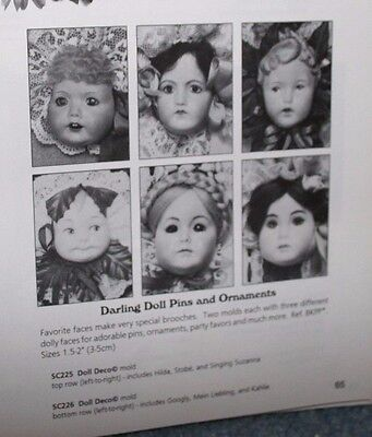 SEELEY DOLL MOLD ~ DOLL DECO SC226 & SC225 + Kids N'Cats SC245 + SC211 ~ 4 MOLDS