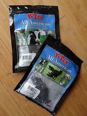50ct Black Male Buttons for Cattle ID Ear Tags Lot Y-TEX  All American
