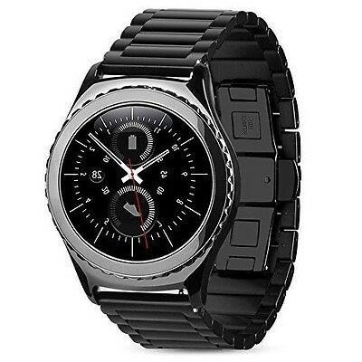 Samsung Gear S3 Frontier Watch Strap Stainless Steel Band Replacement Black-2017