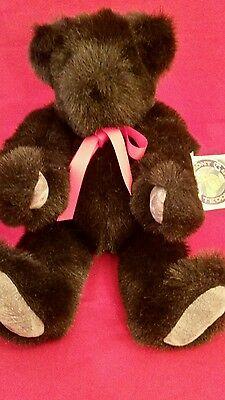 """Vermont Teddy Bear Friend For Life Plush Black 10"""" Free Shipping"""