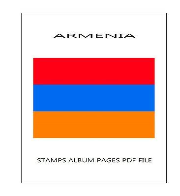 Stamps Album Pages Armenia 2016 - Complete Year Pdf Printable File