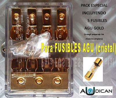 Pack Distribuidor Car Audio 1 Entrada-4 Salidas Con Fusibles Agu Incluidos