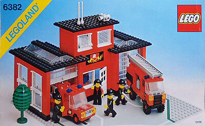 1981 -LEGO Town- Fire Station #6382 Original Instruction Manual - Firefighting