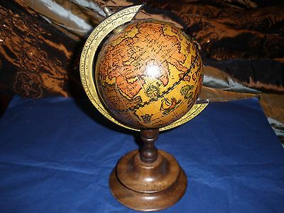 Lovely Vintage Style Globe on Wooden Stand Made In Italy