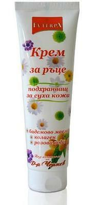 Evterpa Nourishing Hand Cream With Almond Oil and  Collagen For Dry Skin 100 ml