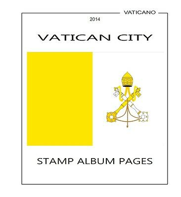 Stamps Album Pages Vatican City 2016 - Complete Year Pdf Printable File