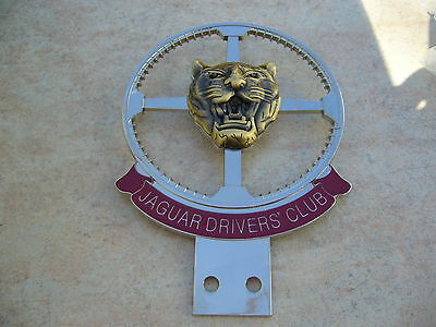 Jaguar Drivers' Club Enamel & Chrome Badge Ss Xk 150 140 Mk10 E Type Mk 2 Mk4
