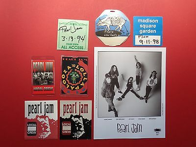 PEARL JAM,promo photo,7 Backstage passes,,RARE Originals,Various Tours