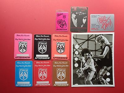 HALL and OATES,promo photo,9 Original Backstage passes,Various Tours