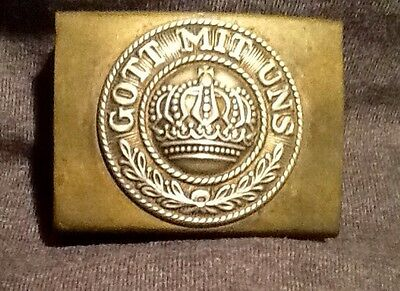 Imperial German, Brass (Pre-WW 1) Enlisted Man's Belt Buckle, Kingdom of Prussia