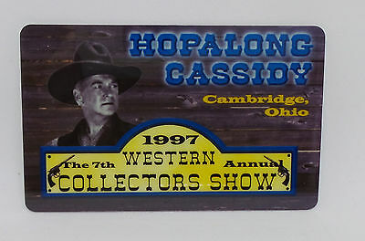 Hopalong Cassidy 1997 Western Collectors Show 1 Unit Prepaid Phone Card  230/500