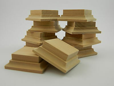 X10 Wooden bases in alder for foot figure 54-60mm