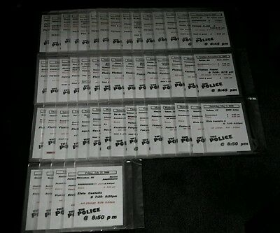 The Police - Ultra Rare Set Of 50 Showtime Tour Schedules From The 2007-08 Tour