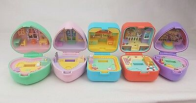 Vintage Polly Pocket Bundle  Ring Cases All from  1991 excellent