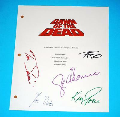 George A. Romero 1978 Dawn Of The Dead Signed Script Rpt Ken Foree Tom Savini