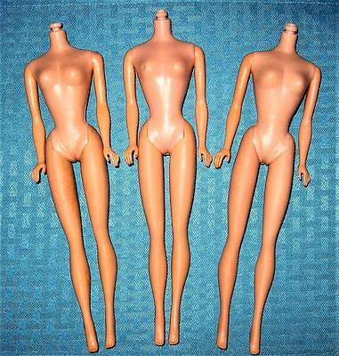Vintage No Head Ponytail Barbie Only Roman Numerals Hollow Body Lot Some Tlc!