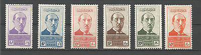 Syria Syrie 1945, Resumption of constitutional goverment, Sc 300-305 Supereb MNH